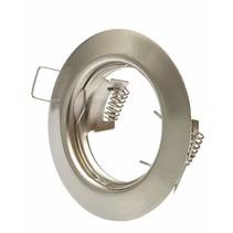 LED Strahler  - 60 mm Einbaurahmen - gebürstet Edelstahl - Rund - nicht schwenkbar - Außenmaß 77 mm