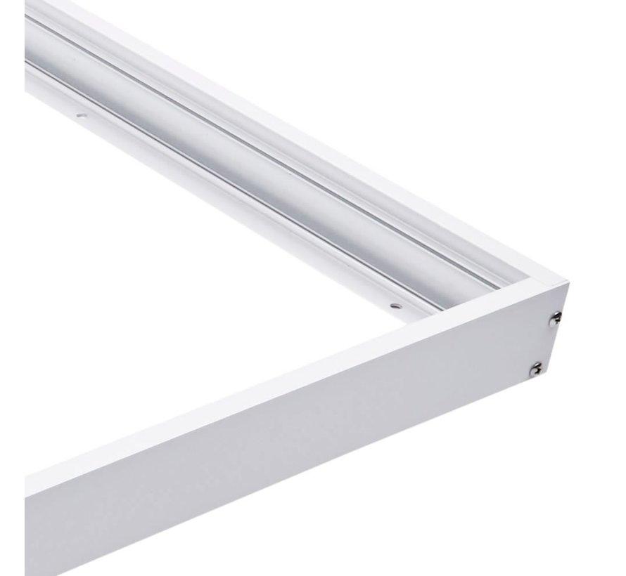 Decken Aufbaurahmen 60x60cm - Weiß - für LED Panel - inkl. Befestigungsmaterial