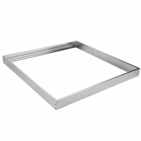 LED Panel Aluminium Aufbaurahmen - Silber - 62x62cm - inkl. Befestigungsmaterial -
