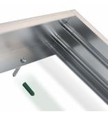 LED Panel Aluminium Aufbaurahmen - Silber - 120x60cm - inkl. Befestigungsmaterial