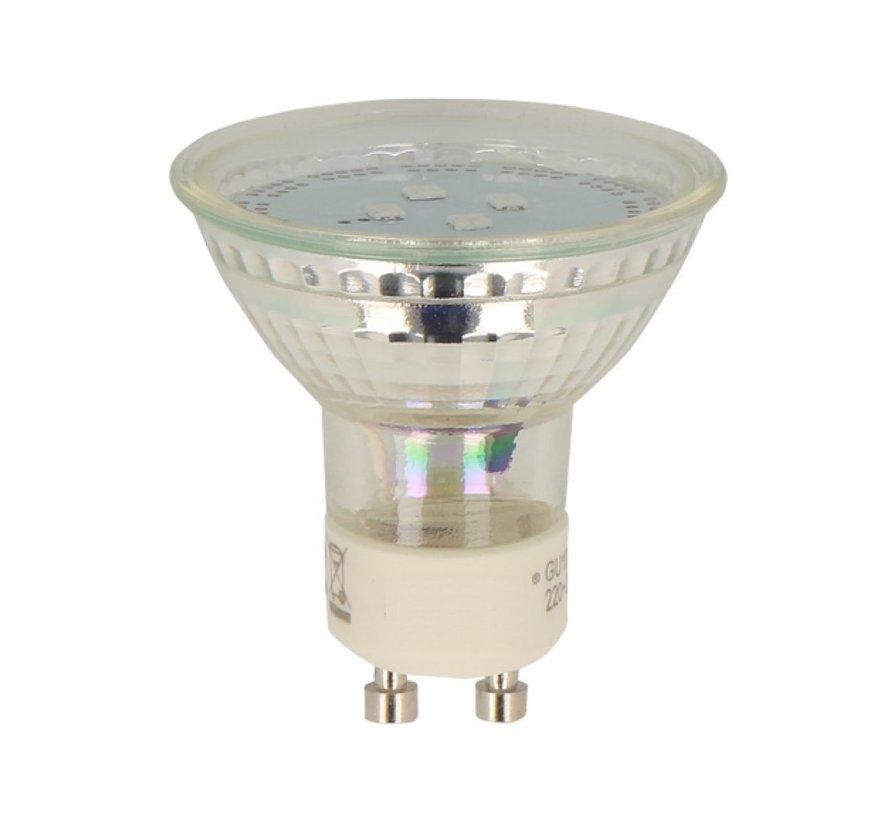 LED GU10 - 1W ersetzt 10W - 2700K Warmweißes Licht -  Glasgehäuse