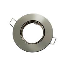 LED GU10 / MR16 Strahler - 80mm  Einbaurahmen -  Edelstahl - Rund - schwenkbar - Außenmaß 92 mm