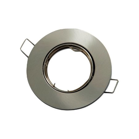 LED GU10 / MR16 Strahler - 75mm Einbaurahmen -  Edelstahl - Rund - schwenkbar - Außenmaß 92 mm