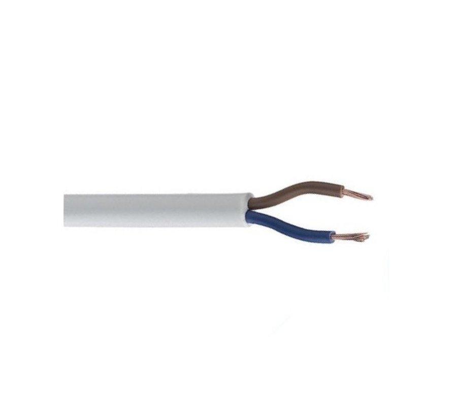 Elektro Kabel 100m - flexible 2x 0,75mm² mit Mantel Zwillingslitze - Rund