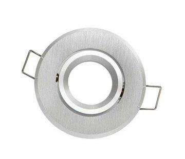 GU11 / MR11 Strahler - Einbaurahmen 60 mm - Außengröße 70 mm - Silber Alu - rund - IP20