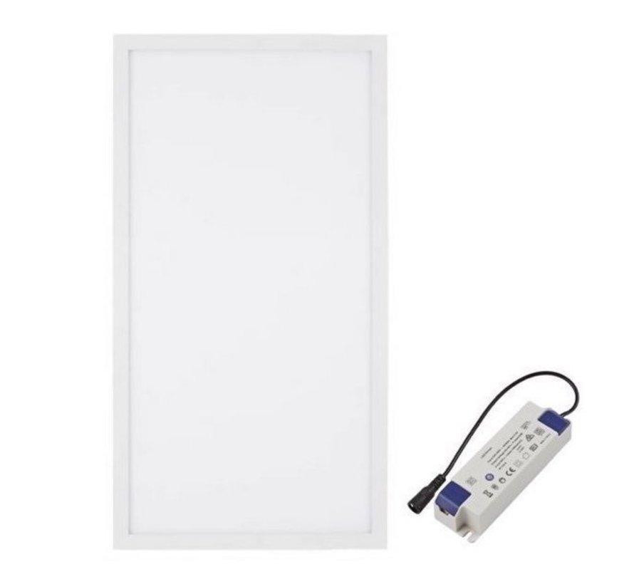 LED Panel 30x60 cm  - 24W - Warmes Weiß - 3000K 2125lm inkl. Treiber 5 Jahre Garantie