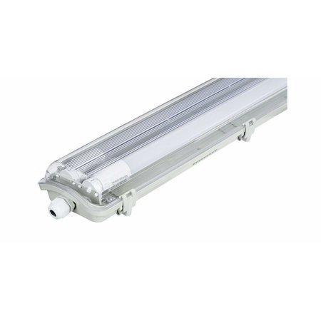 LED T8 / G13 -  60cm - IP65 Wasserdichte Halterung - für Feuchtraum - Wannenleuchte - IK10