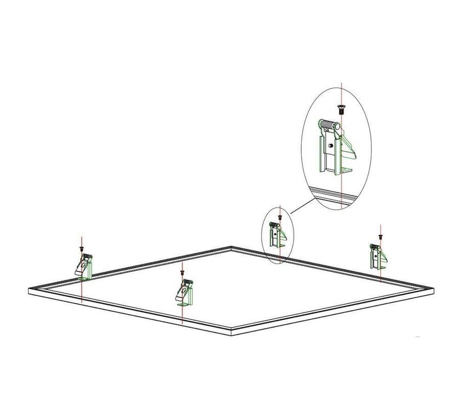 LED Panel Einbauklammern - Gipsklammern -  Set von 4 Stück