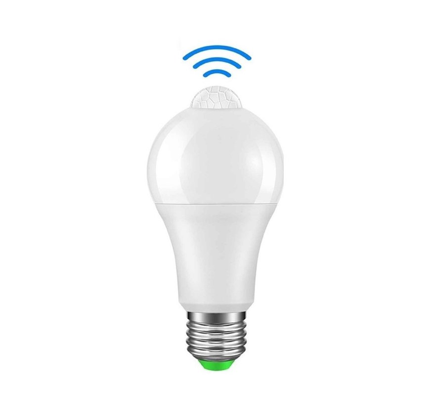 LED Birne mit Bewegungssensor - E27 Fassung - 12W ersetzt 100W - Lichtfarbe optional