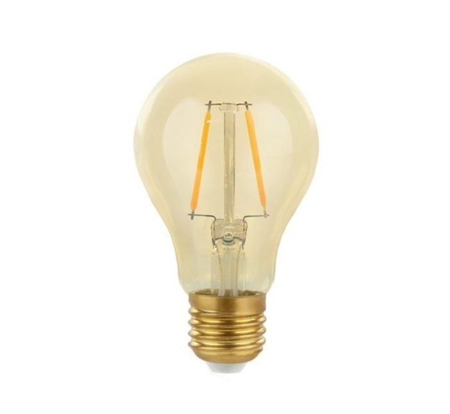 LED E27 - Filament Glühfaden Birne - A60 -  2W -  2500K Extra Warmweiß