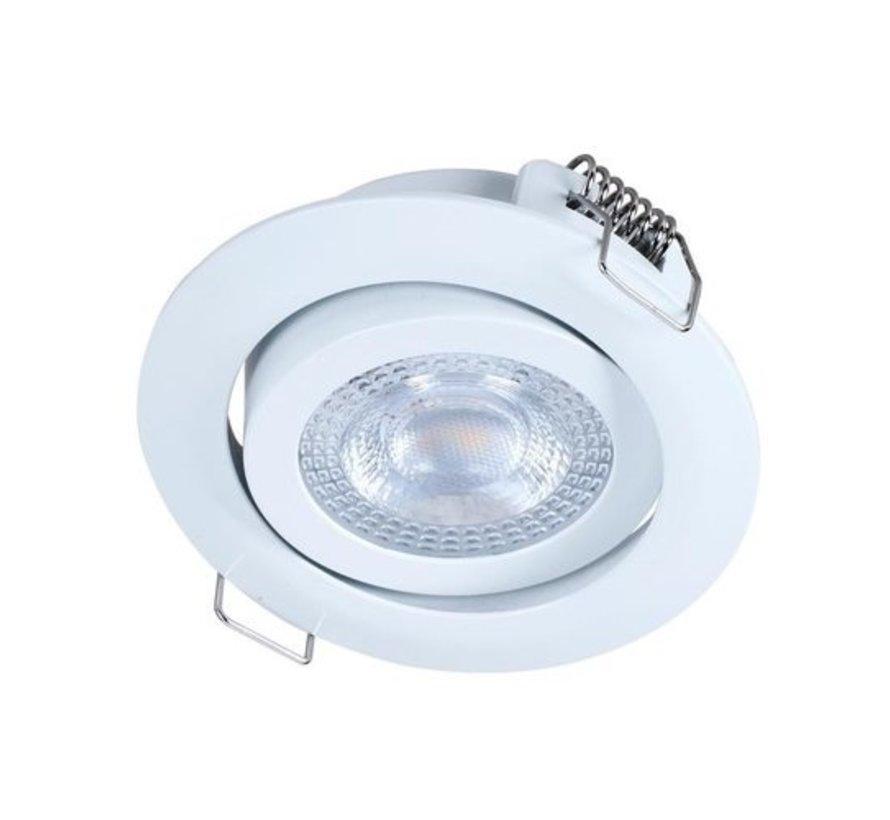LED Deckeneinbaustrahler IP20 - Weiß - 3W ersetzt 25W - 3000K Warmweißes Licht - schwenkbare Leuchte - 230V