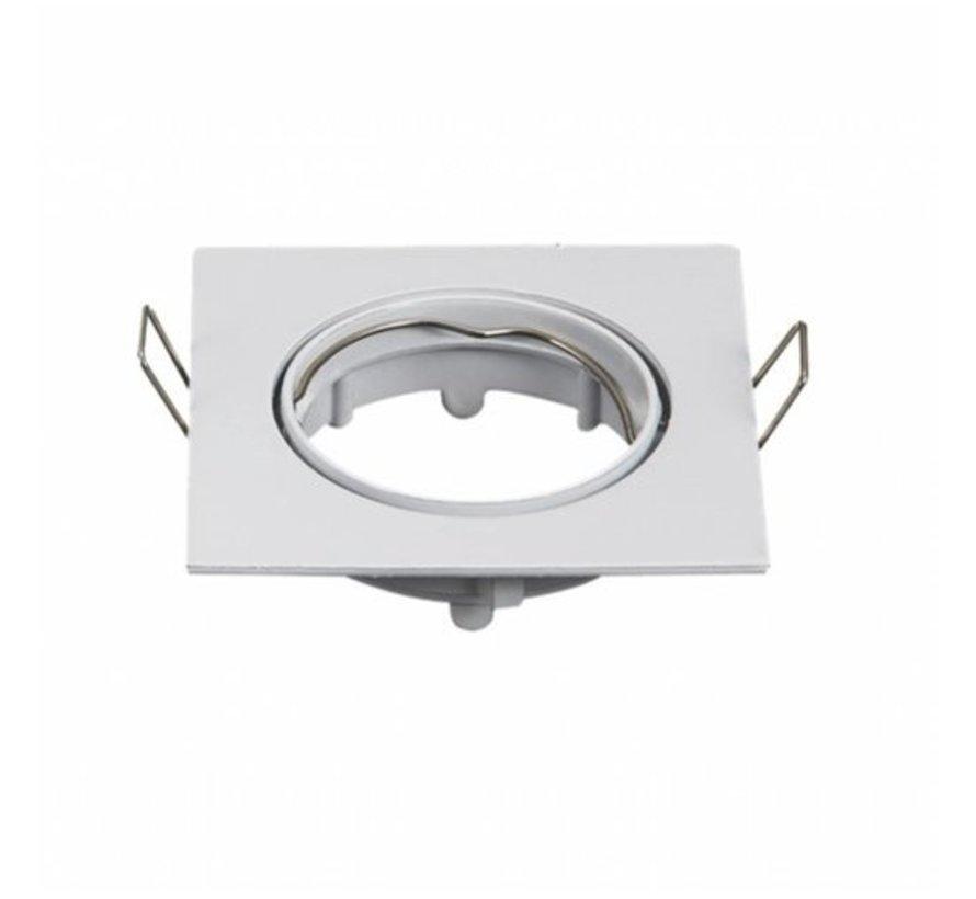 LED Strahler 72mm Einbaurahmen - Weiß - Quadrat 80x80mm - schwenkbar