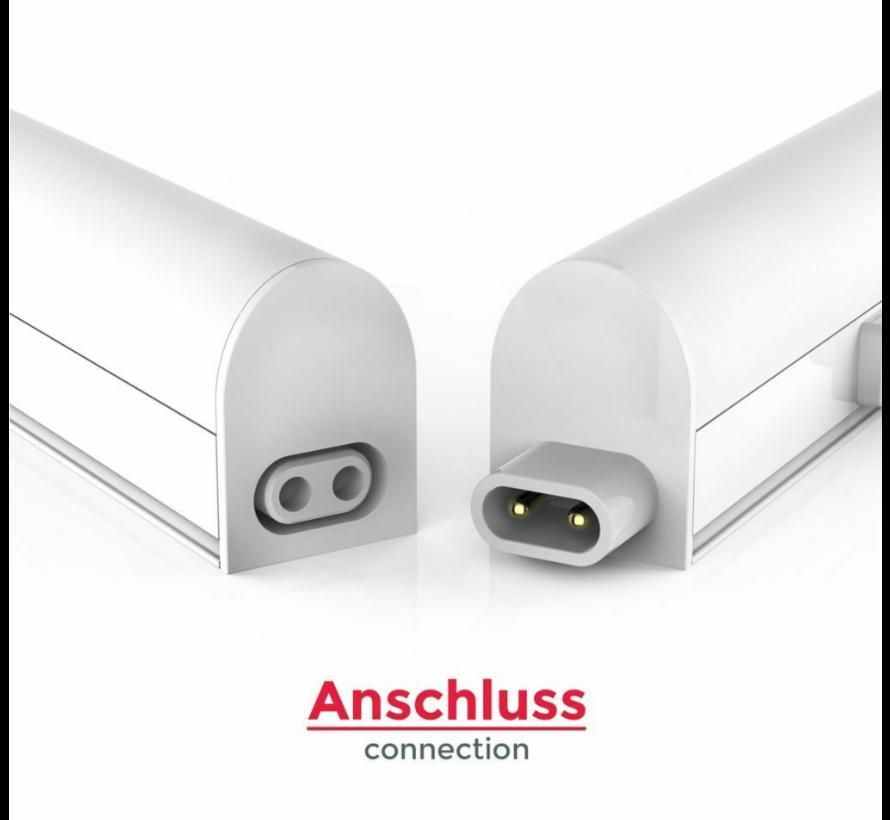 T5 LED KüchenunterbauLeuchte - 30cm - Licht Farbe optional - komplett mit 1,5m Anschlusskabel und Ein- / Ausschalter - 4W ersetzt 40W