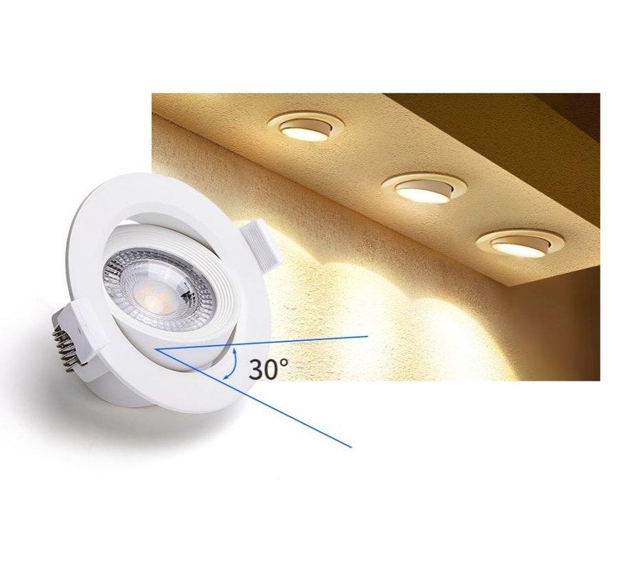 LED-Einbaustrahler - 5W ersetzen 35W - 3000K warmweißes Licht - schwenkbare Leuchte - 230V