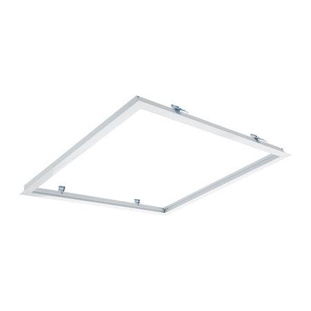 Decken Einbaurahmen 60x60cm - Loch gröse 613x613mm - Weiß - für LED Panel - inkl. Befestigungsmaterial - Abdeckmass 635x635mm