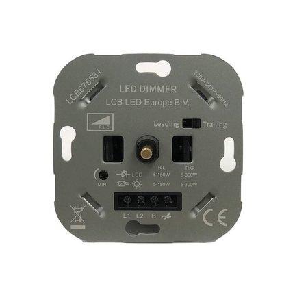 Unterputz  LED Dimmer - Triac - max. 300 Watt - Geeignet  für Phase anschnitt und Phasenabschnitt