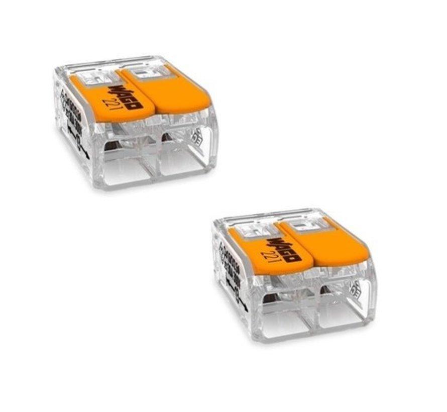 2-aderig -  Netzkabel mit Stecker und Wago klemmen - 1,5 Meter - 230V - mit an/ ausschalter