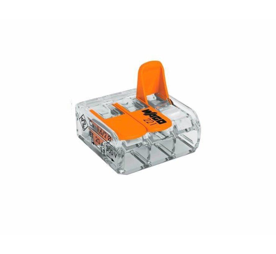 WAGO Federklemme 3-polig 0.14-4 mm² - Stückpreis