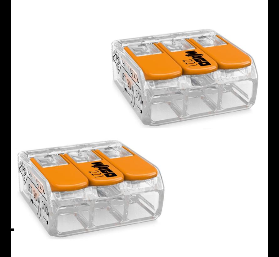 WAGO Federklemme 3-polig 0.14-4 mm² - 2 Stück