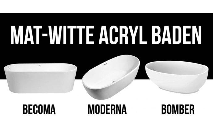 Acryl vrijstaande baden