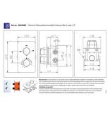 """Best-design Best-Design """"One-Pack"""" inbouw-regendoucheset """"Verona-M-300"""""""