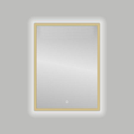 "Best-design Best-Design Nancy ""Isola"" Mat-Goud LED spiegel B=60 x H=80cm"