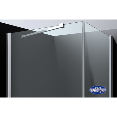 "Best-design Best-Design ""Erico"" vierkante cabine met 1 swing deur 90x90x200cm NANO glas 6mm"