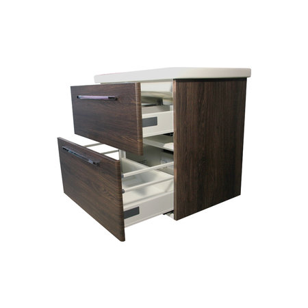 "Best-design Best-Design onderkast + wastafel ""Winner Oak-Dark-Brown"" 100 cm"