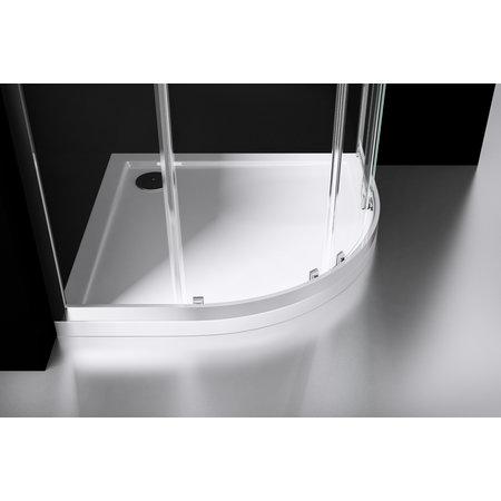 "Best-design Best-Design ""Project"" 1/4 ronde douchecabine 80x80x190cm glas 5mm"