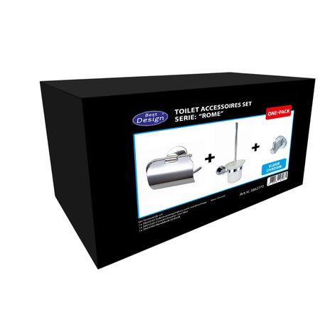 """Best-design Best-Design One-Pack toilet accessoires set """"Rome"""""""