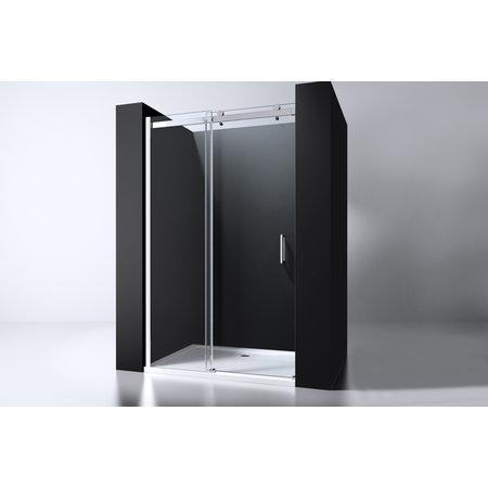 """Best-design Best-Design """"Erico"""" nisdeur schuif verstelbaar 118-120cm H=200cm NANO glas 8mm"""