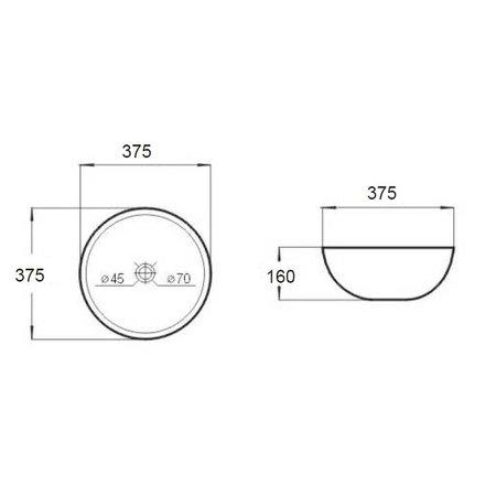 """Best-design Best-Design """"Rema"""" opbouw-waskom Ø=37,5cm H=16cm"""