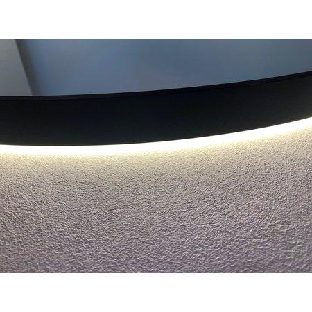 """Best-design Best-Design Nero """"Venetië"""" ronde spiegel zwart incl.led verlichting Ø 120 cm"""