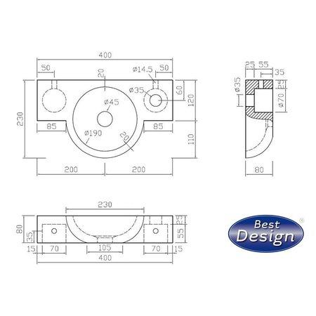 """Best-design Best-Design """"Montreux"""" fontein Limestone 40x23x8cm"""