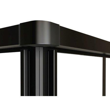 """Best-design Best-Design """"Black-Corner"""" douche hoekinstap 890x890x2100x4mm"""