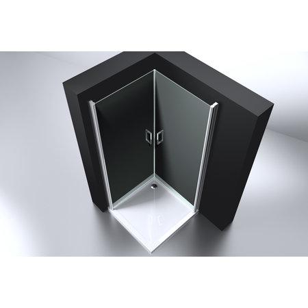 "Best-design Best-Design ""Erico"" vierkante cabine met 2 deuren 100x100x192cm NANO glas 6mm"