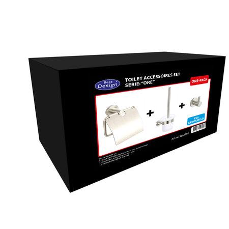 """Best-design Best-Design One-Pack toilet accessoires set """"Ore"""""""