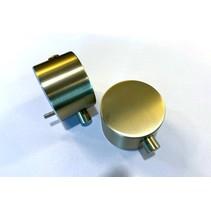 "Best-Design paar bedieningsknop Mat-Goud thermostatisch/omstel tbv.""Nancy"" Art.4008250"