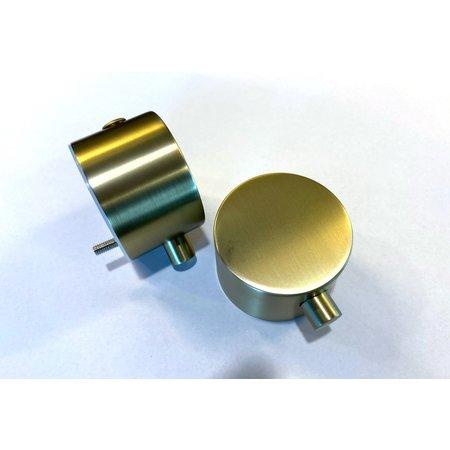"Best-design Best-Design paar bedieningsknop Mat-Goud thermostatisch/omstel tbv.""Nancy"" Art.4008250"