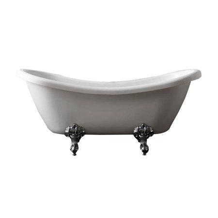 """Best-design Best-Design """"Double-Ended-Slip"""" nostalgisch bad 176x70x76 cm inclusief poten"""
