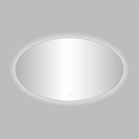 """Best-design Best-Design """"Divo-80"""" ovale spiegel incl.led verlichting B=80 x H=60cm"""