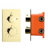 """Best-design Best-Design """"Nancy"""" inbouwthermostaat & inb.box 2-weg 1/2"""" mat-goud"""