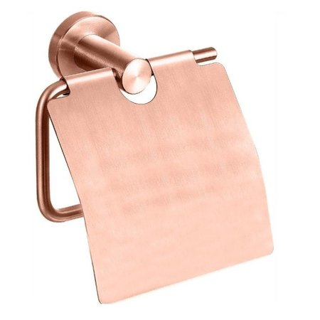 "Best-design Best-Design ""Lyon"" toiletrolhouder met klep rosé-mat-goud"