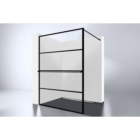 "Best-design Best-Design ""Noire"" losse handdoekbeugel tbv.inloopdouche 1400 mm"