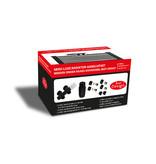 """Best-design Best-Design Nero-Luxe radiator-aansluitset """"Midden onder Haaks"""" universeel Mat-Zwart (DS-ROOD)"""