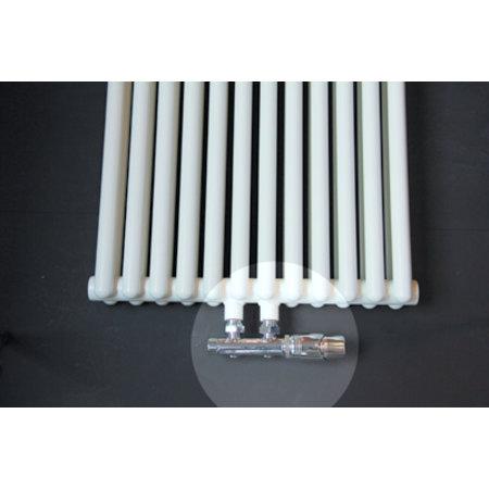 """Best-design Best-Design Luxe radiator-aansluitset """"Midden onder Haaks"""" universeel (DS-PAARS)"""