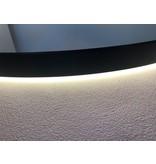 """Best-design Best-Design Nero """"Venetië"""" ronde spiegel zwart incl.led verlichting Ø 100 cm"""