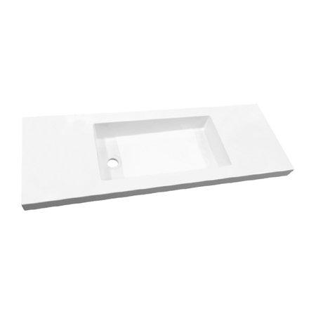 """Best-design Best-Design """"Slim"""" wastafel voor meubel 120 cm (ondiep) 35 cm zonder kraan gat"""