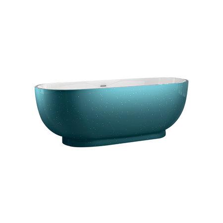 "Best-design Best-Design ""Color-Turquoise ""vrijstaand bad 179x81x61cm"