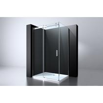 "Best-Design ""Erico-Rechthoek"" cabine schuifdeur & wand 120x90x200cm NANO glas 8mm"